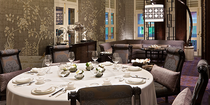 Private Dining of Cassia at Capella Hotel on Sentosa Island, Singapore