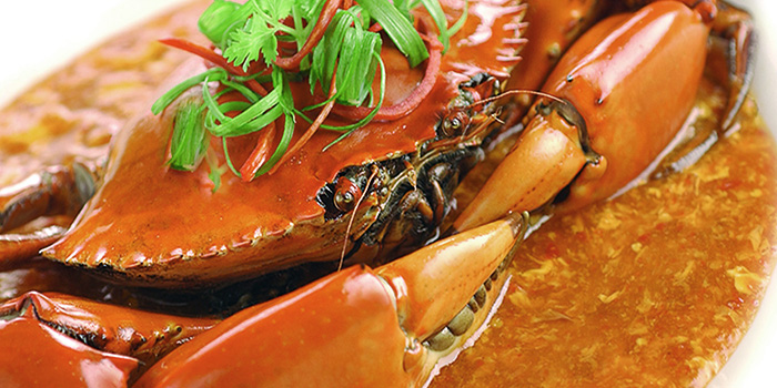 Chili Crab from Sky View Pavilion at Singapore Flyer in Promenade, Singapore