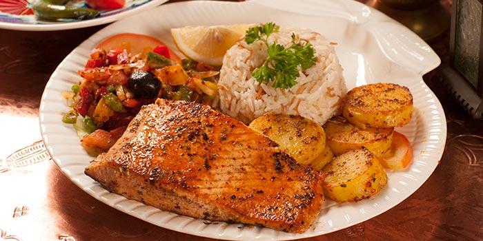 Salmon from Sofra Turkish Cafe & Restaurant in Bugis, Singapore