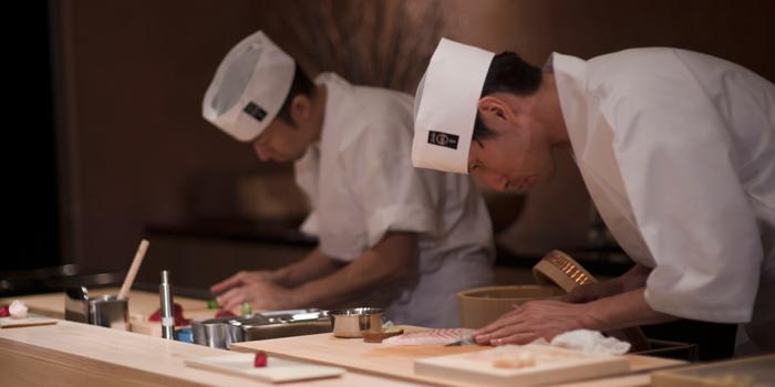 Sushi Chefs from Sushi Zo at Athenee Tower, Bangkok