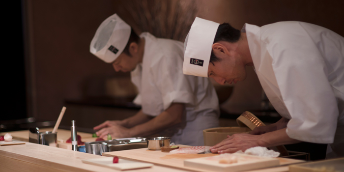 Sushi Chefs from Sushi Zo at Athenee Tower, Bangkok