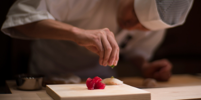 Sushi Making from Sushi Zo at Athenee Tower, Bangkok