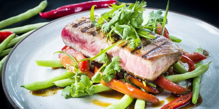 Tuna Steak & Tomato Salsa from HQ Beach Lounge on Kamala Beach, Phuket, Thailand
