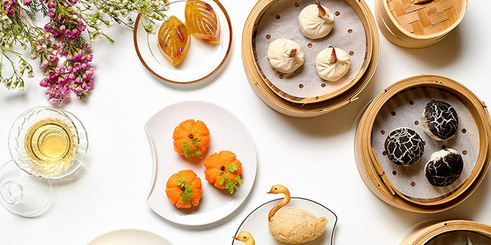 Dim Sum Spread from Xin Cuisine Chinese Restaurant in Outram, Singapore