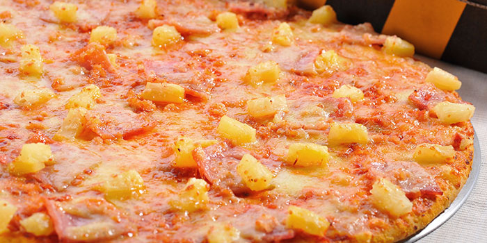 Hawaiian Pizza from Yellow Cab Pizza Co. at CityLink Mall in City Hall, Singapore