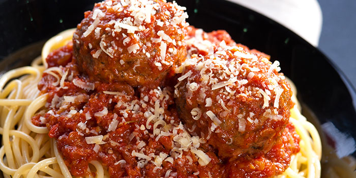 Spaghetti and Meatballs from Yellow Cab Pizza Co. at CityLink Mall in City Hall, Singapore