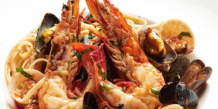 Linguine ai Frutti di Mare from Acqua e Farina at The Rail Mall in Bukit Timah, Singapore