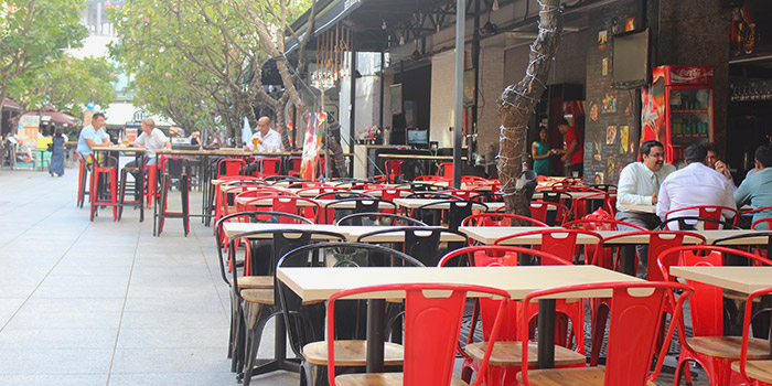 Outdoor Area of Beer Factory in Raffles Place, Singapore