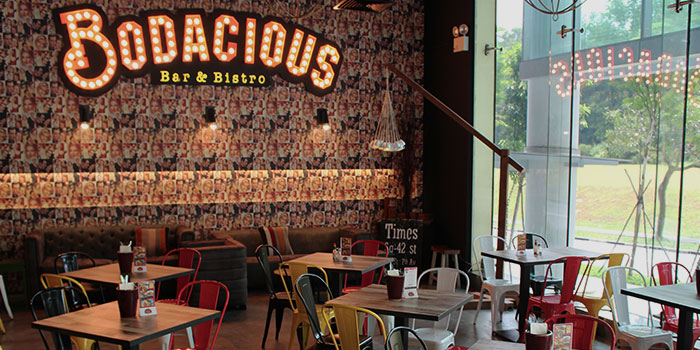 Interior of Bodacious at Biopolis in Bouna Vista, Singapore