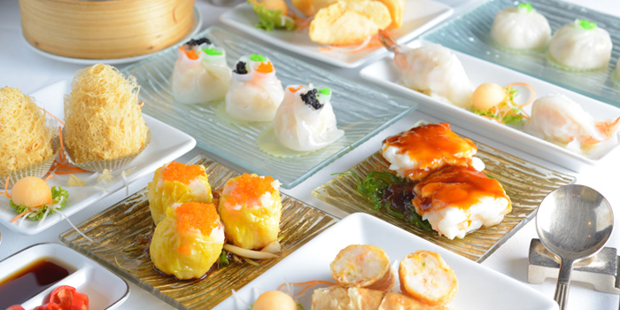 Dim Sum Variety from Lin-Fa Chinese Restaurant at The Sukosol, Bangkok