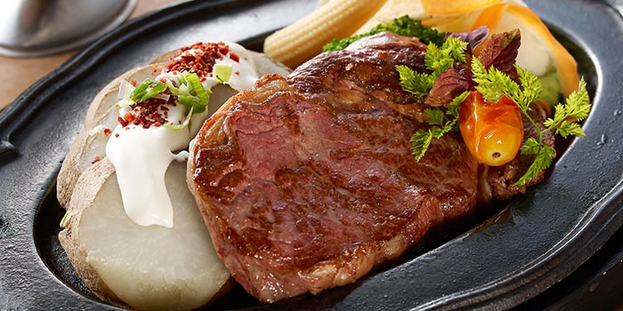 NZ Grassfed Rib Eye from Eatzi Gourmet Bistro (Paya Lebar Square) in Paya Lebar, Singapore