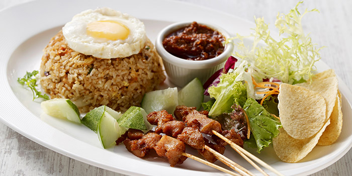 Nasi Goreng with Prawns and Chicken Satay from Eatzi Gourmet Bistro (Paya Lebar Square) in Paya Lebar, Singapore