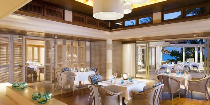Restaurant-Indoor of Sea Food at Trisara in Cherngtalay, Phuket, Thailand