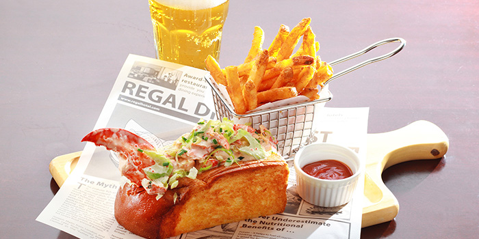 Marine Lobster Sandwich served on Brioche with French Fries, Mezzo, Tsim Sha Tsui, Hong Kong