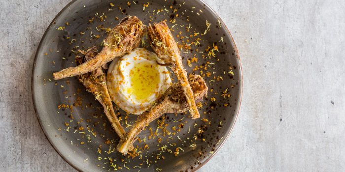 Ricotta, Fried Artichoke, Bottarga from Moosehead Kitchen & Bar on Telok Ayer Street in Raffles Place, Singapore