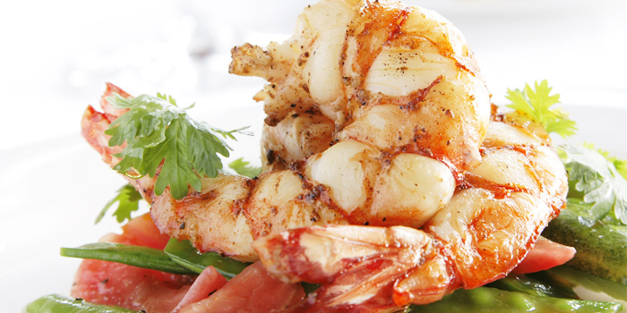 Seared King Prawns from The Deck in Cherngtalay, Phuket, Thailand