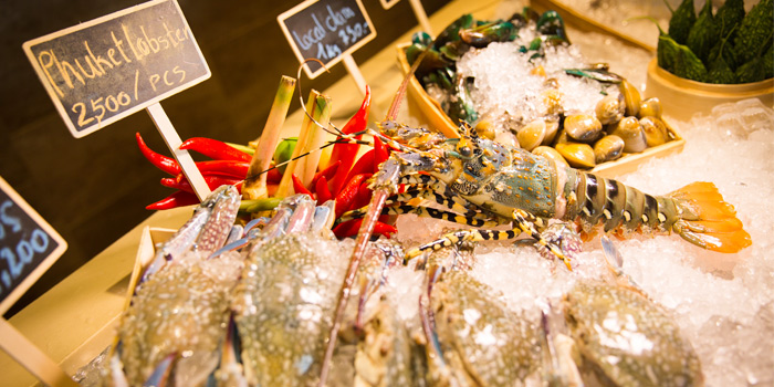 Selection of Seafood from Sea Food at Trisara in Cherngtalay, Phuket, Thailand
