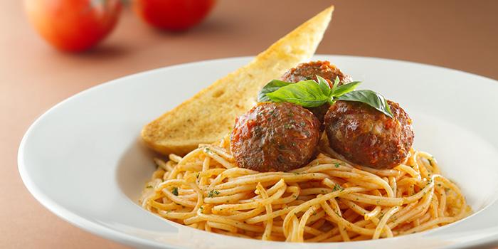 Spaghetti with Classic Meatballs and Italian Pomodoro Sauce, Mezzo, Tsim Sha Tsui, Hong Kong