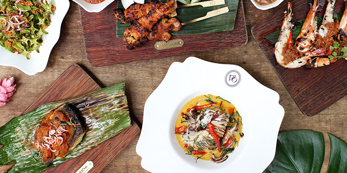 Local Feast from Violet Oon Satay Bar & Grill in Clarke Quay, Singapore