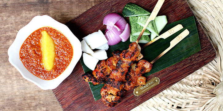 Pork Satay from Violet Oon Satay Bar & Grill in Clarke Quay, Singapore