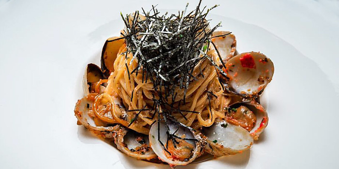 Capellini with Vongole Clams from 28Wilkie Italian Restaurant & Caviar Bar in Dhoby Ghaut, Singapore
