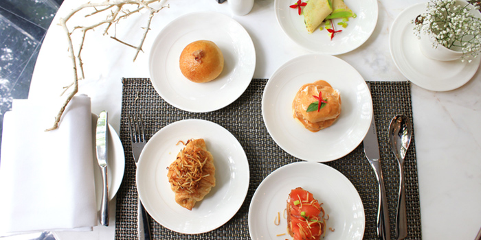Breakfast Selection from The Rain Tree Café at Plaza Athénée Bangkok, A Royal Meridien Hotel, Bangkok