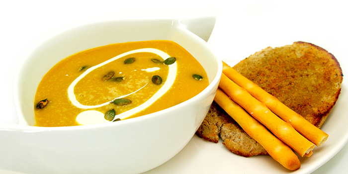 Pumpkin Soup from Brunetti in Tanglin, Singapore