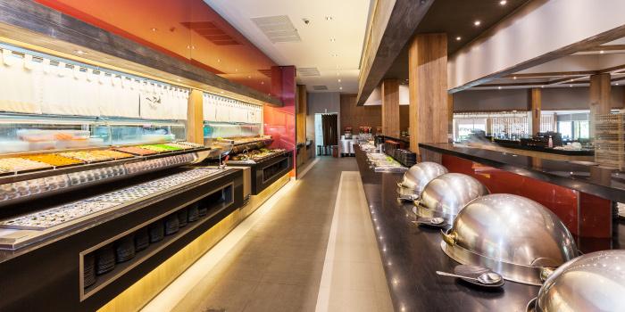 Buffet Line of Tori Japanese Buffet Restaurant in Mueng, Phuket, Thailand