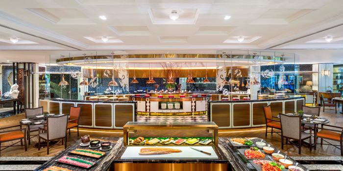 Buffet Line from The Rain Tree Café at Plaza Athénée Bangkok, A Royal Meridien Hotel, Bangkok