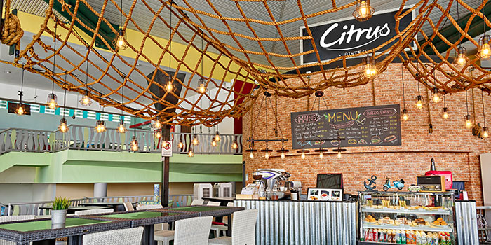 Interior of Citrus Bistro at Sengkang Sports Centre in Sengkang, Singapore