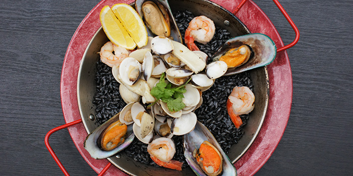 Squid Ink Paella from Charlie