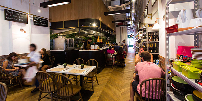 Dining Area of Feather & Bone, Happy Valley, Hong Kong