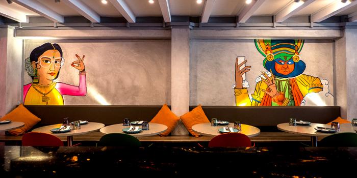 Dining Room in Flying Monkey in Bugis, Singapore