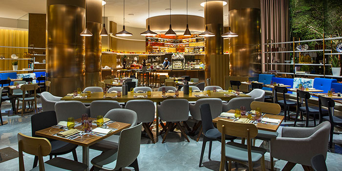 Interior of Food Capital at Grand Copthorne Waterfront Hotel in Robertson Quay, Singapore