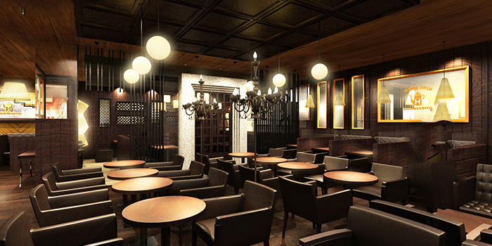 Interior of Hoshino Coffee (Kinex Mall) at Kinex Mall in Paya Lebar, Singapore
