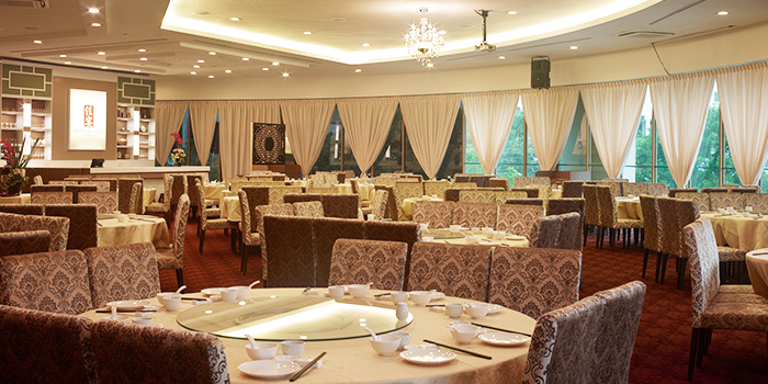 Interior of Imperial Feast Restaurant at THE CHEVRONS in Jurong, Singapore