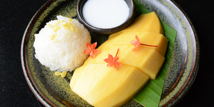 Mango With Sticky Rice from Smooth Curry at Plaza Athénée Bangkok, A Royal Meridien Hotel, Bangkok