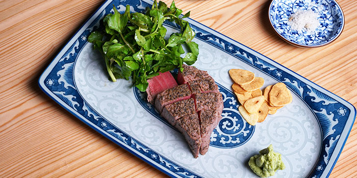 Diced Wagyu Beef from Osaka Kitchen at Wisma Atria Shopping Centre in Orchard, Singapore