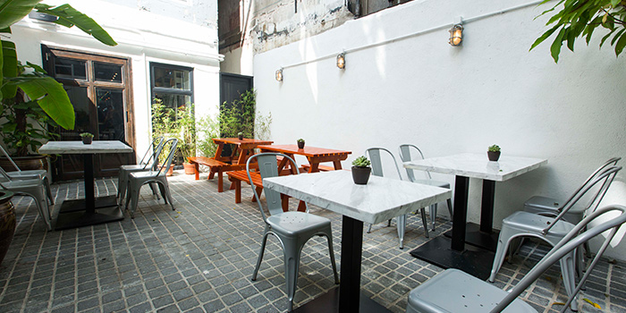 Outdoor Area of Feather & Bone, Happy Valley, Hong Kong