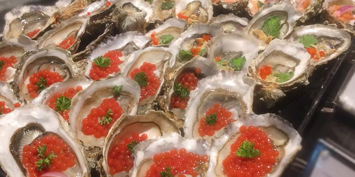 Oysters from The Rain Tree Café at Plaza Athénée Bangkok, A Royal Meridien Hotel, Bangkok