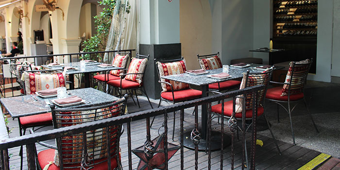 Outdoor Dining Area of Shabestan in Robertson Quay, Singapore