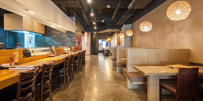 Dining Area of Shin Kushiya at VivoCity in Harbourfront, Singapore
