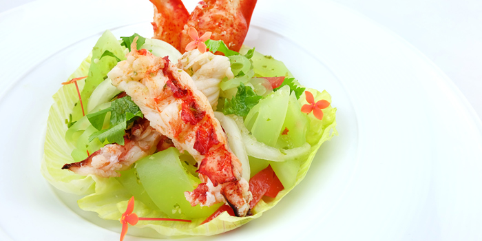 Spicy Green Bean Noodle Salad With Lobster from Smooth Curry at Plaza Athénée Bangkok, A Royal Meridien Hotel, Bangkok