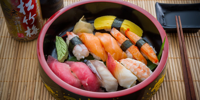 Sushi from Tori Japanese Buffet Restaurant in Mueng, Phuket, Thailand