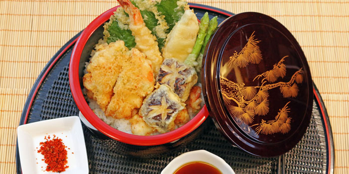 Tempura Donburi at Aoki Japanese Cuisine