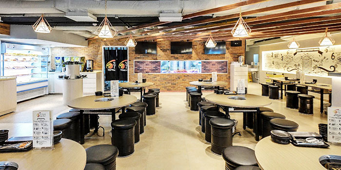 Interior of Captain K Seafood Tower (Middle Road) at Midland House in Bugis, Singapore