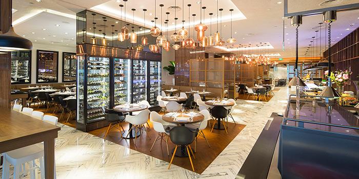 Interior of Element Restaurant at Amara Hotel in Tanjong Pagar, Singapore