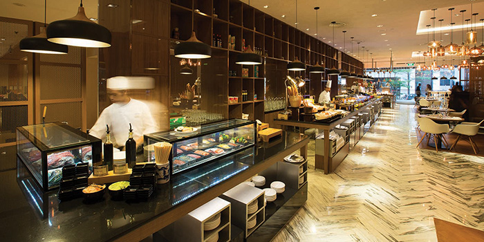 Sashimi Counter of Element Restaurant at Amara Hotel in Tanjong Pagar, Singapore
