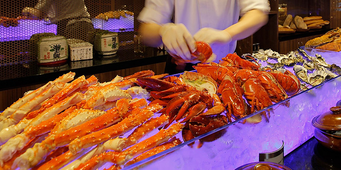 Seafood Spread from Element Restaurant at Amara Hotel in Tanjong Pagar, Singapore