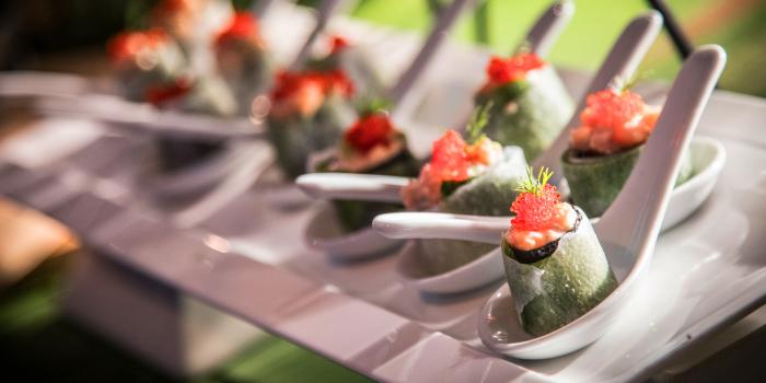 Fresh Vietnamese Spring Roll from BBQ Buffet night from Catch Beach Club in Bangtao Beach, Cherngtalay, Phuket, Thailand.